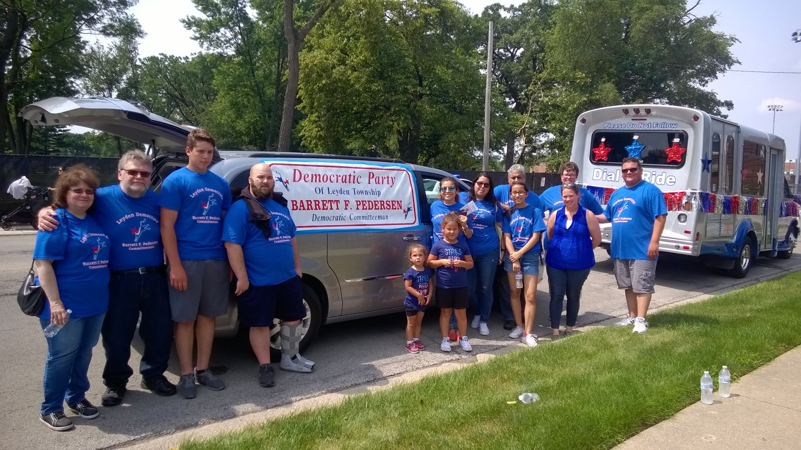 Committeeman Pedersen at the Elmwood Park 4th of July Parade